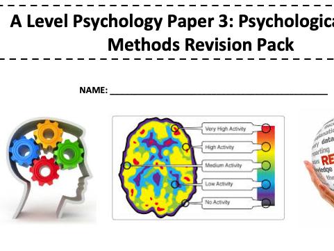Edexcel A Level Psychology Revision Template Bundle