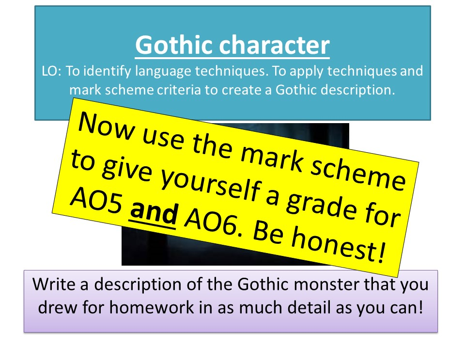 Creating a Gothic character