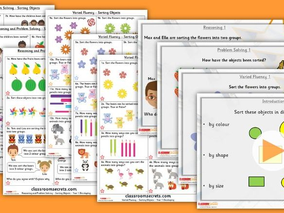 FREE Year 1 Sorting Objects Autumn Block 1 Step 1 Lesson Pack