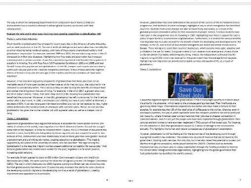 Edexcel Global Politics A Level Revision Pack