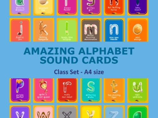 Amazing Alphabet - A4 cards