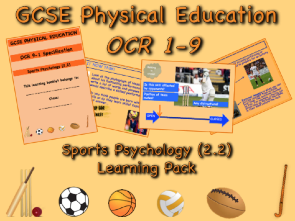 Sports Psychology GCSE OCR PE (2.2) Complete Learning Pack