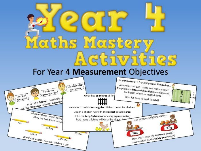 Measurement Mastery Activities – Year 4
