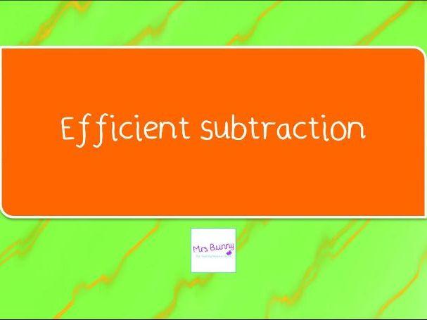8. Efficient subtraction lesson pack (Y4 A&S)