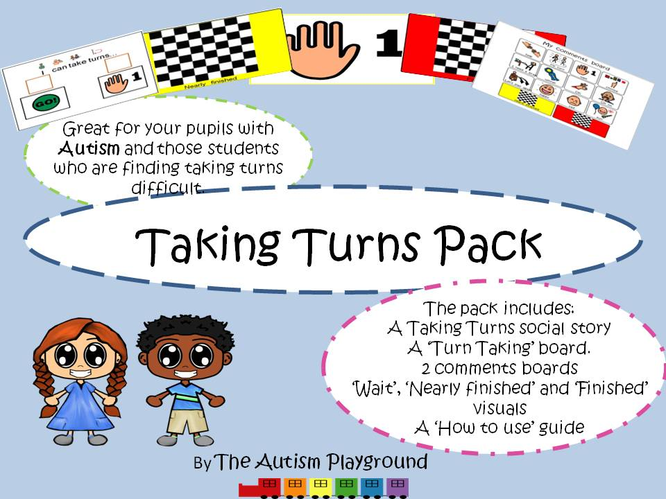 Social skills: Taking Turns Pack -  Including Social Story, Visuals and more...