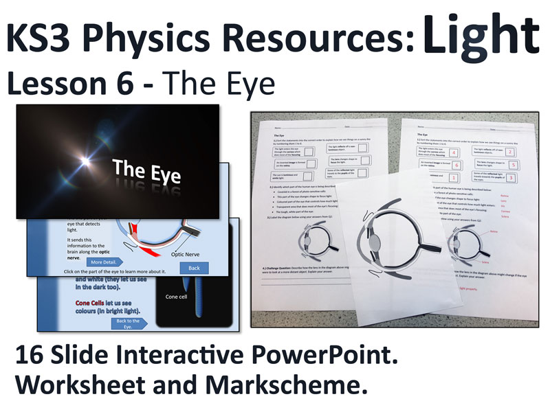 KS3 Physics Lesson Resources - Light - The Human Eye (Lesson 6)