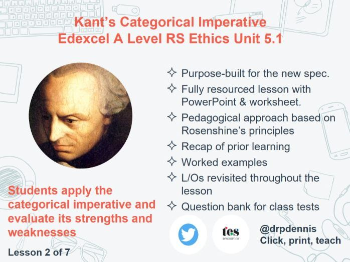 Kant's Categorical Imperative (Edexcel A Level Ethics *new spec*)