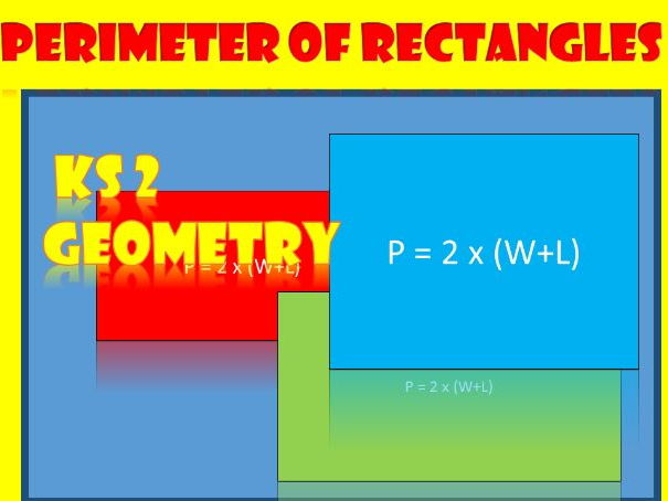 KS2 Maths: Perimeter of Rectangles.  5 Worksheets.