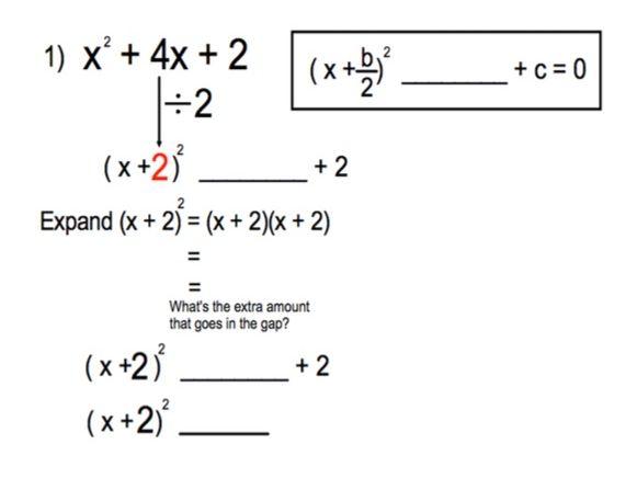 GCSE Maths - Quadratics - Completing the Square - 10 Q + A