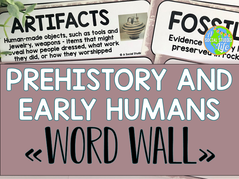 Prehistory and Early Humans Word Wall