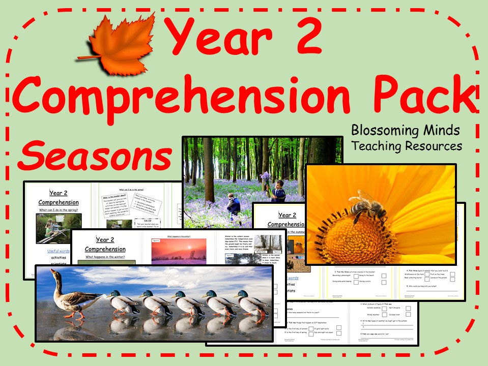 Year 2 Reading Comprehension Pack - Seasons