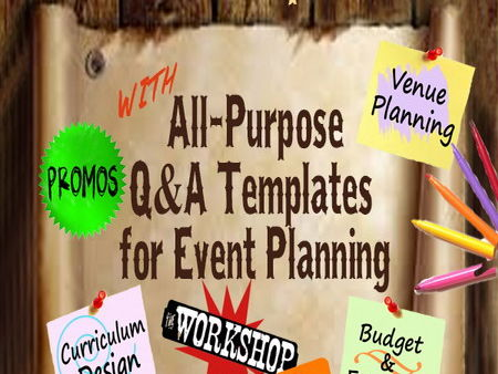WORKSHOP PLANNER: All-Purpose Q&A Templates for Event Planning