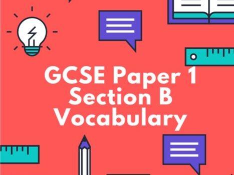GCSE AQA English Language Paper 1 Section B Vocabulary
