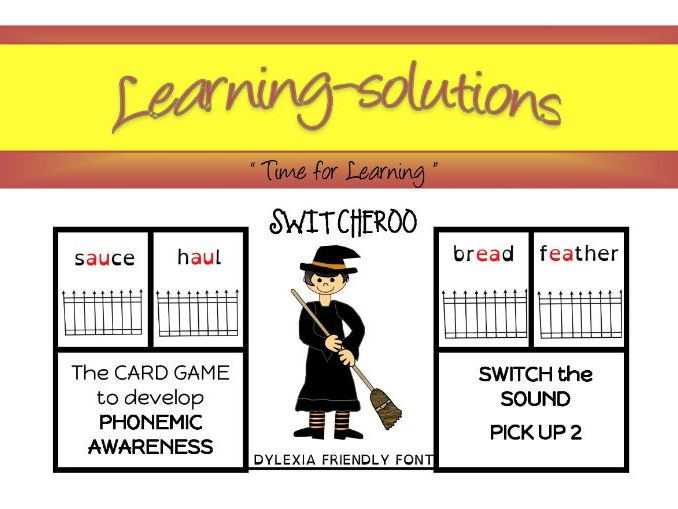 PHONEMIC DEVELOPMENT - SWITCHEROO CARD GAME - 5 games - Phase 5 - complex letter clusters