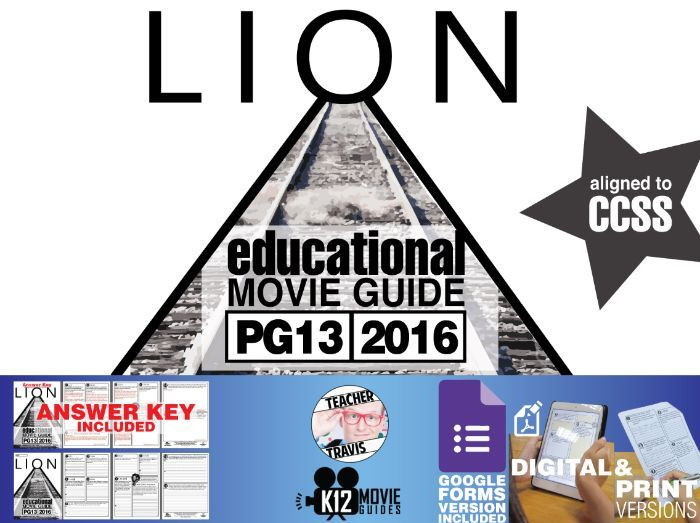 Lion Movie Guide | Questions | Worksheet (PG13 - 2016)