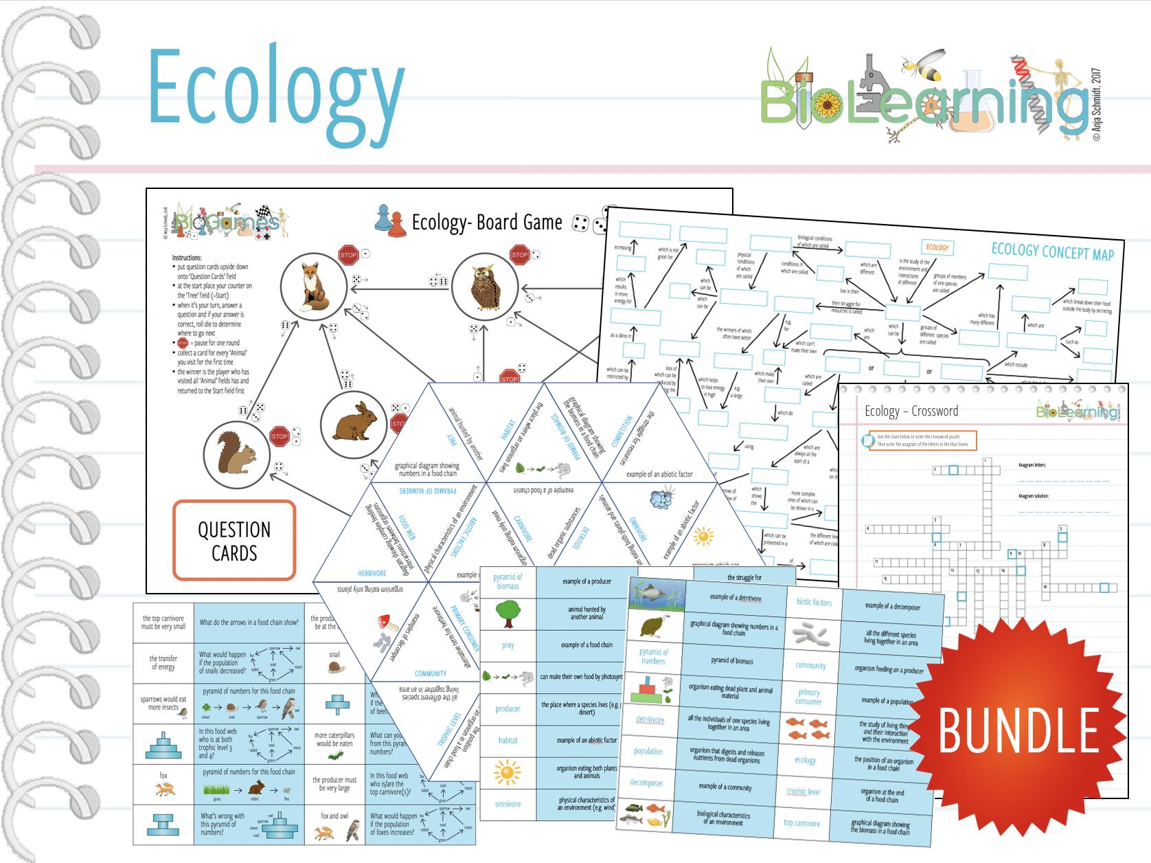 Ecology - 6x Activities (KS3/KS4)