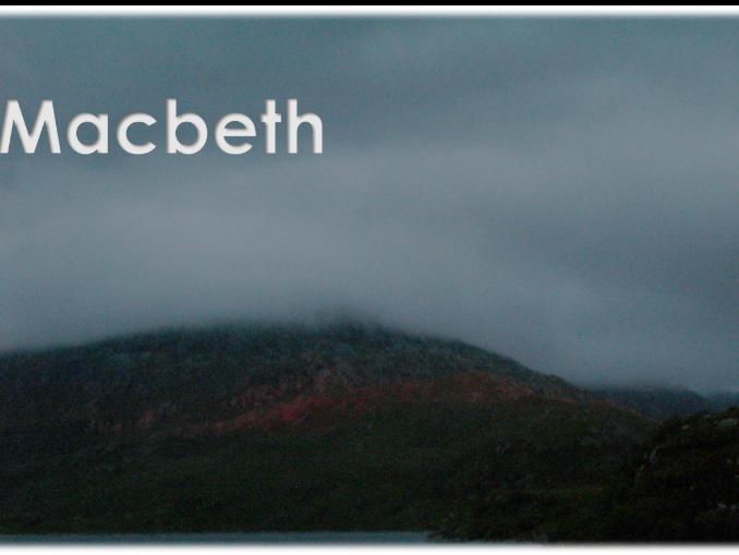 Easy Peasy Shakespeare play script: Macbeth