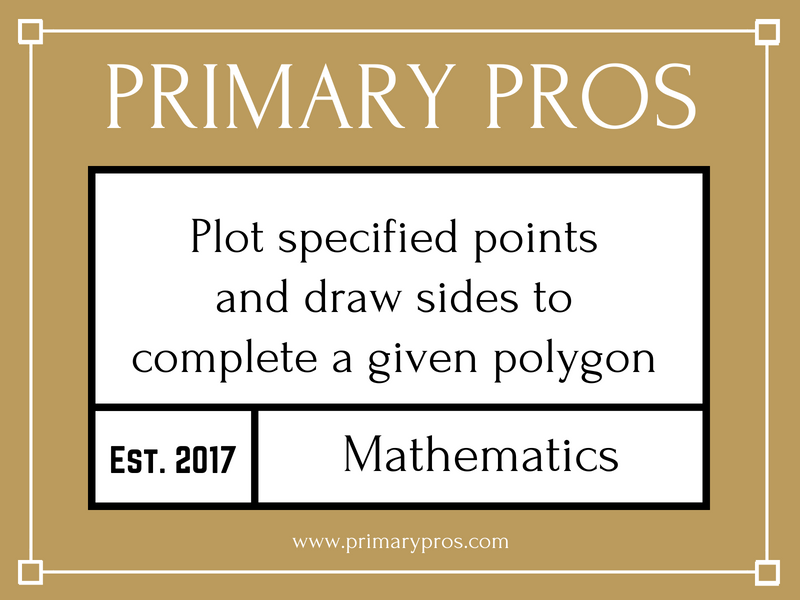 Plot specified points and draw sides to complete a given polygon