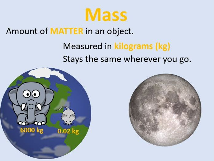KS3 - Y7 - Physics - Mass, Weight and Gravity
