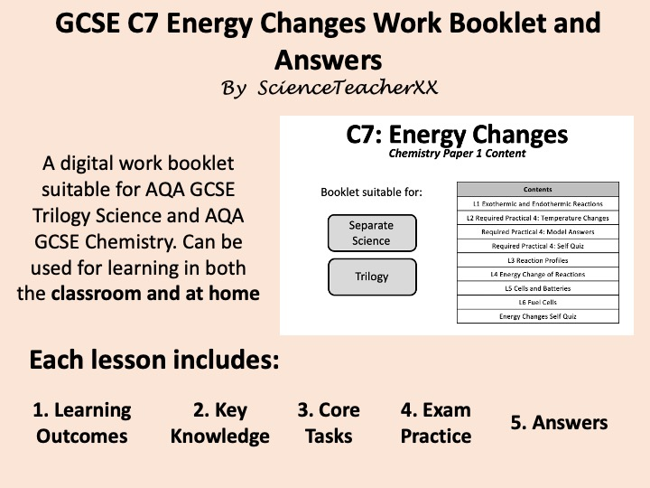 C7 Energy Changes Work Booklet and Answers