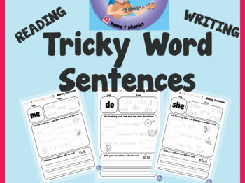 Set 1: Tricky word sentence writing and reading | HFW | Jolly Phonics