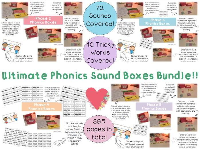 Phase 2-5 Ultimate Phonics Boxes Bundle