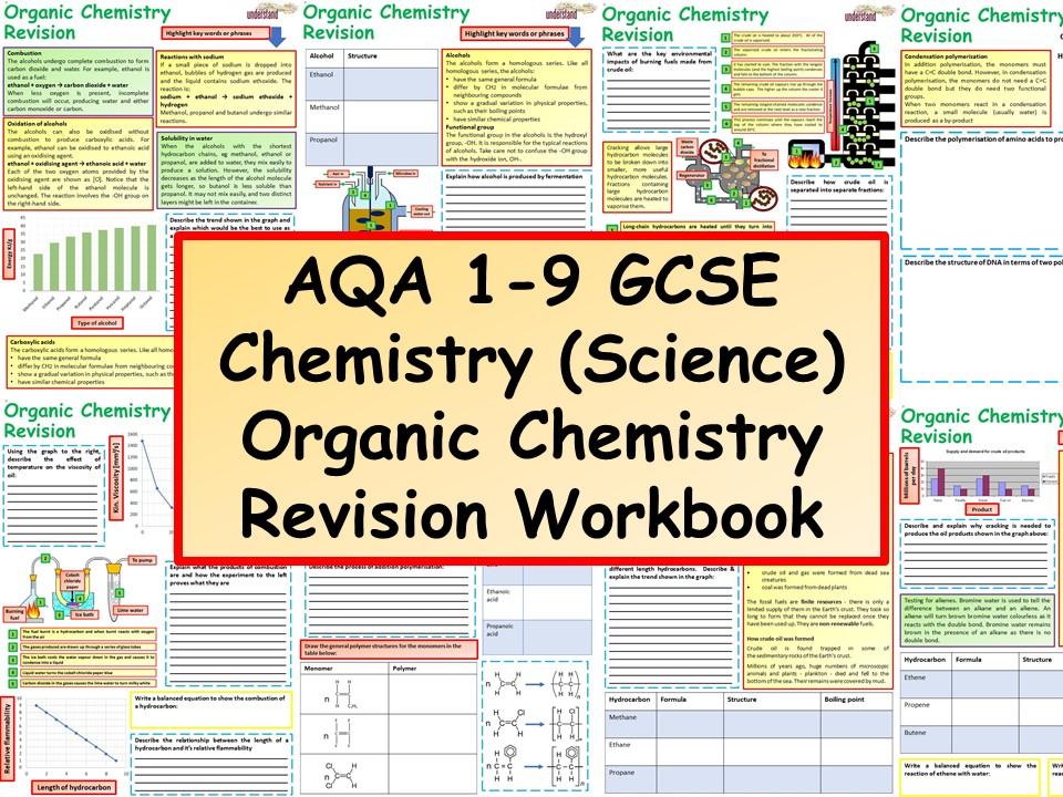 AQA 1-9 GCSE Chemistry (Science) Organic Chemistry Revision Workbook