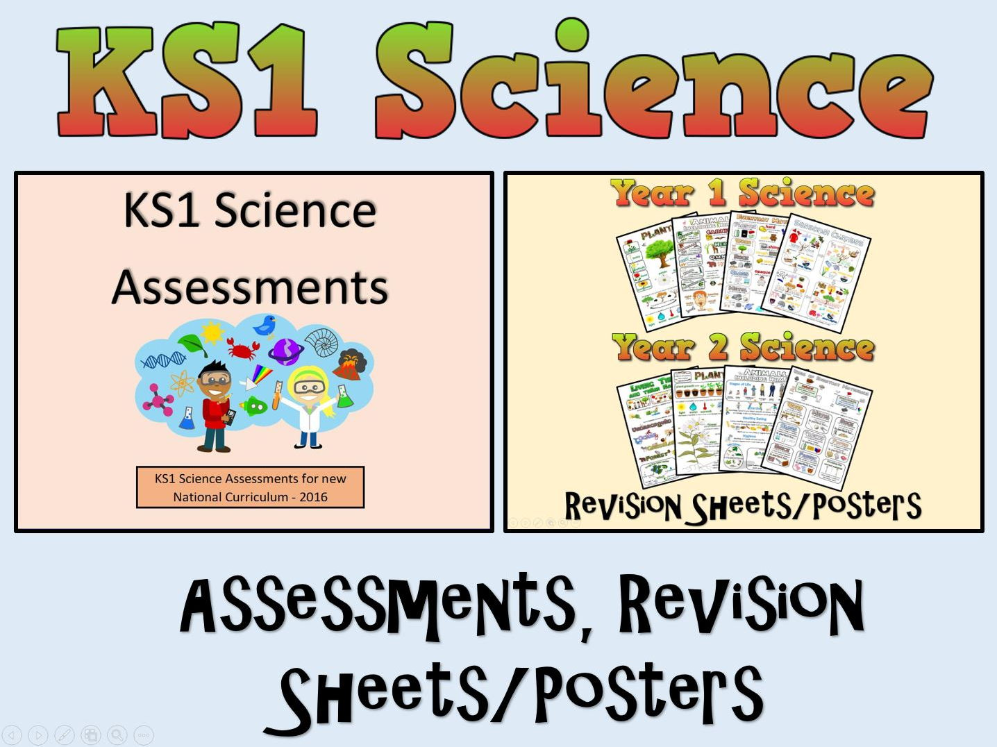 KS1 Science Assessments + Posters/Revision Sheets