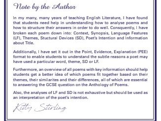 Answer Poetry questions with ease, AQA Anthology of Poetry(Power & Conflict)