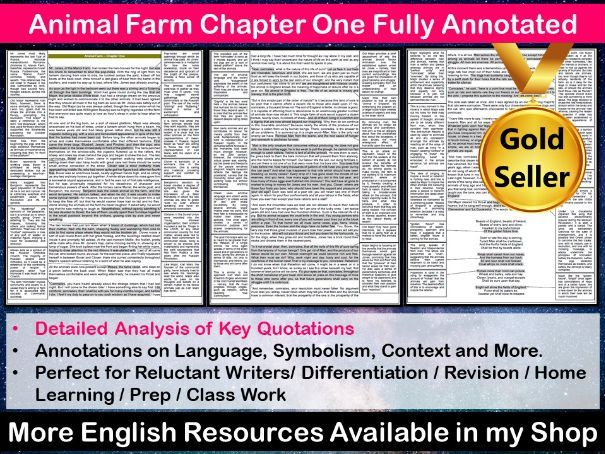 Animal Farm Chapter 1 Fully Annotated