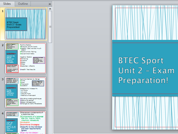 Level 3 BTEC Sport - Unit 2 - Exam Preparation