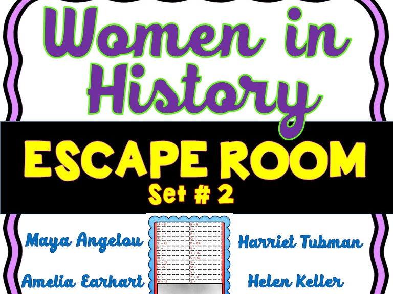 Women in History Escape Room Set #2 - No Prep!