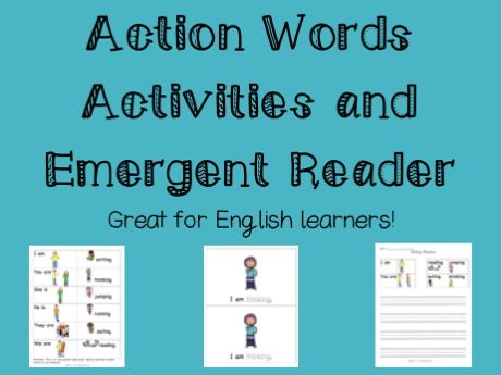 ESL - Action words activities and emergent reader
