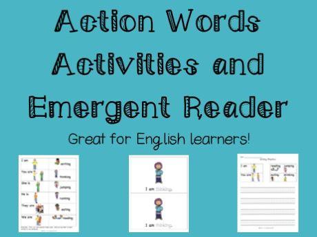 ESL - Action words activities and emergent reader