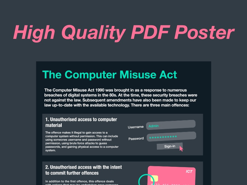 Computer Misuse Act Poster