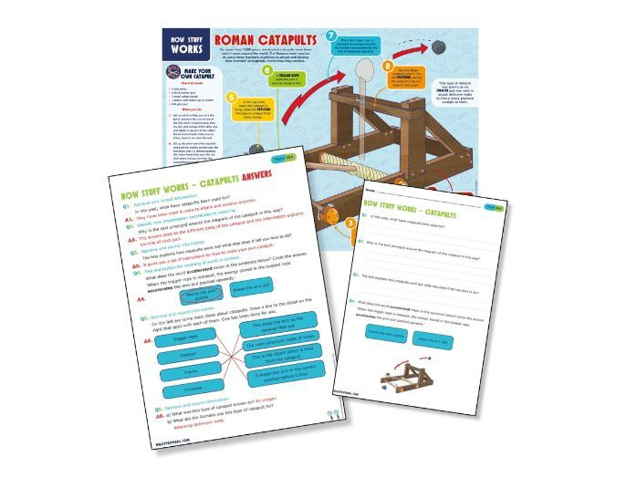 Year 3 and 4 science reading: catapults