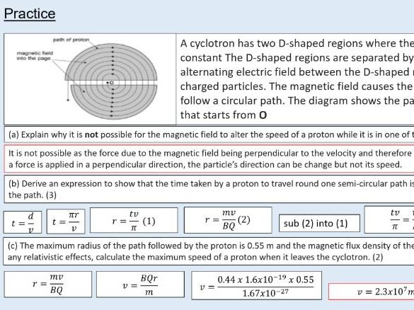 A level Physics (24.3) Charged particles in circular orbits (Magnetic fields)