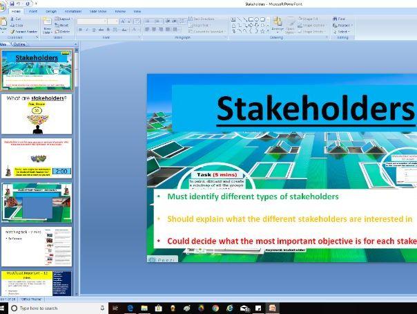 AQA GCSE Business (9-1) 3.1.4 Stakeholders