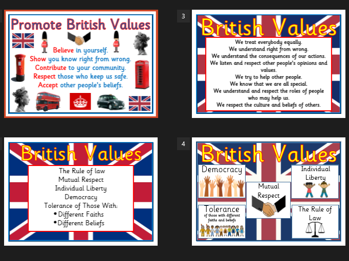 British Values A4 Display Poster Pack - Promote British Values