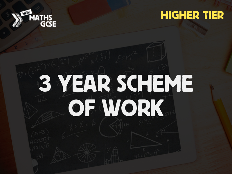 GCSE Maths - 3 Year Scheme of Work (Higher Tier) - 2018/19 Version