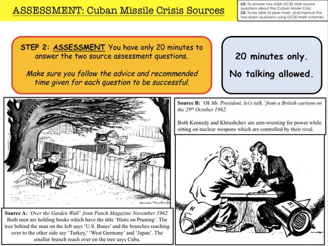 Cold War Cuban Missile Crisis Sources By W17 Teaching