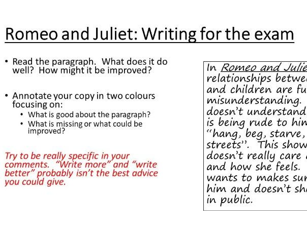 Romeo and Juliet: Lord Capulet Extract Exam Question