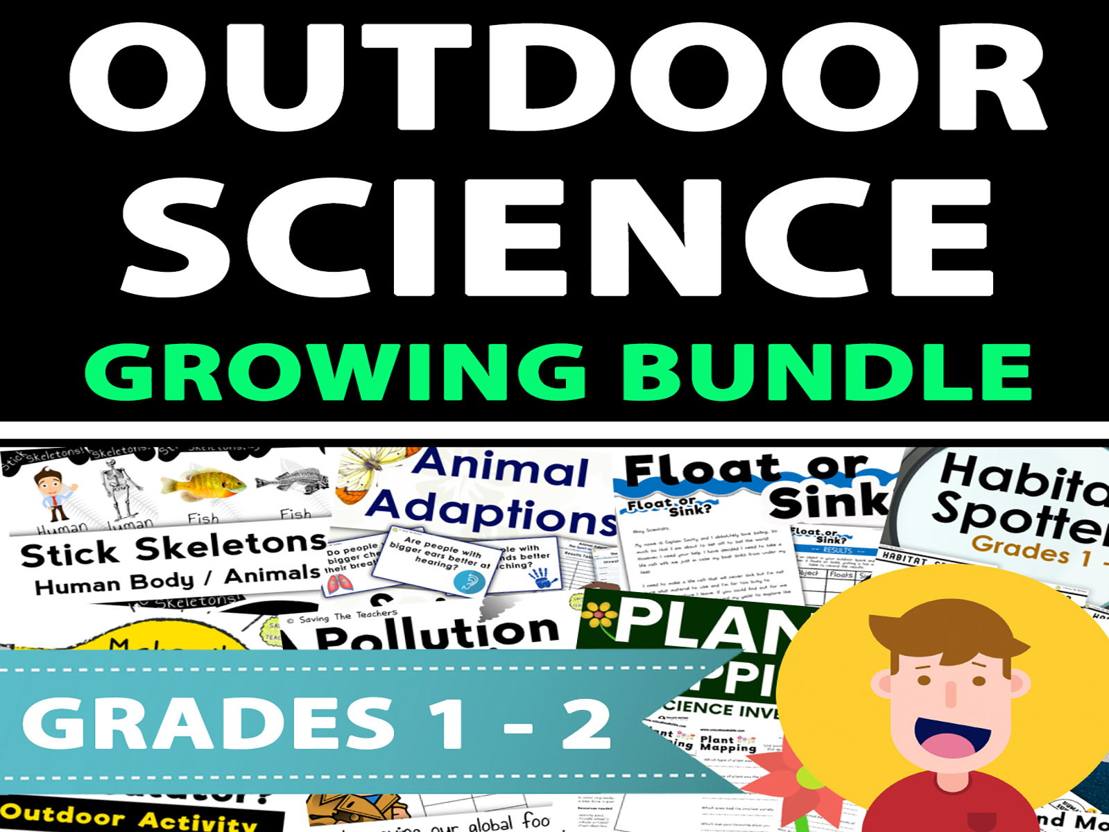 Outdoor Science Investigations / Activities Growing Bundle - Years 1 - 3
