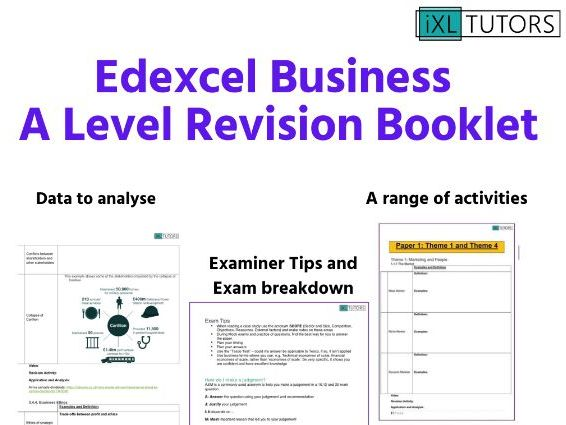Business A Level Full Revision Booklet and Exam Success Guide