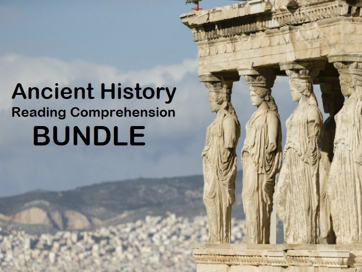 Ancient History Bundle -  Reading Comprehension Worksheets - Texts (SAVE 70%)