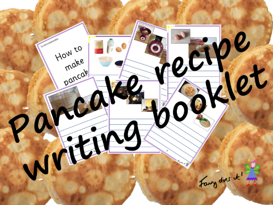 Pancake Recipe Writing Booklet