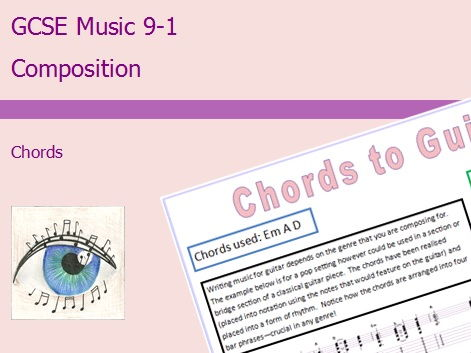 GCSE Music 9-1 Composition: Chords Differentiation