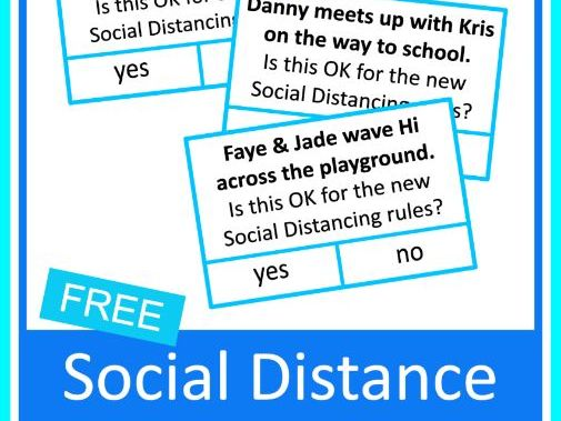 FREE Social Distancing at School Yes or No Autism Life Skills Cards