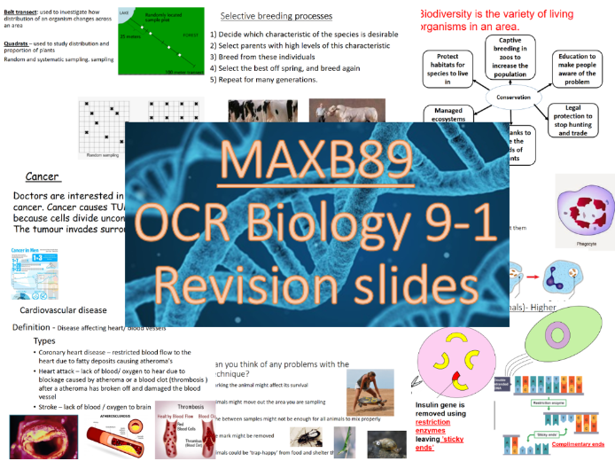 GCSE 9-1 Revision Biology OCR Unit 6 Revision Slides