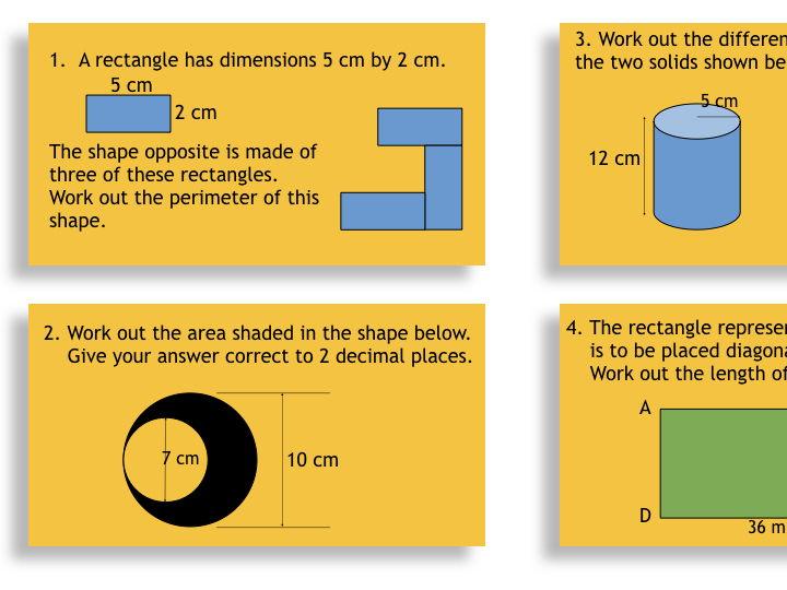 GCSE Foundation Mathematics Revision  Game